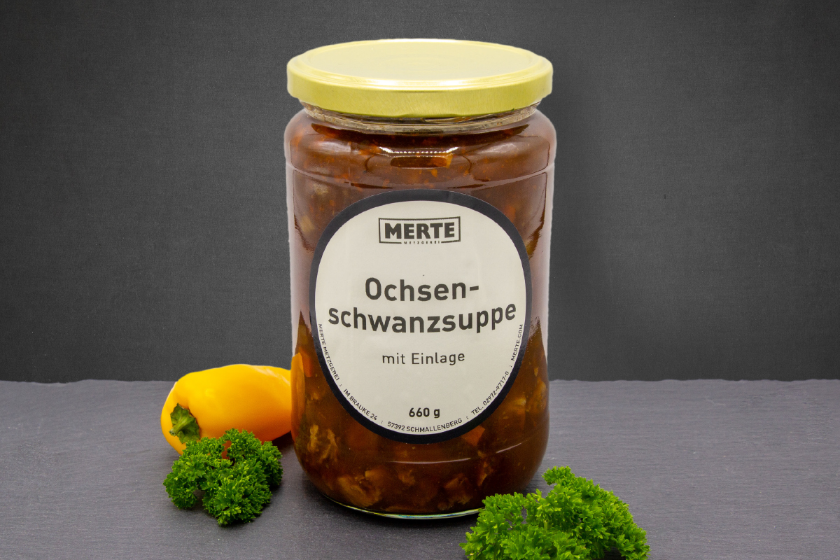Ochsenschwanzsuppe á 660g Glas