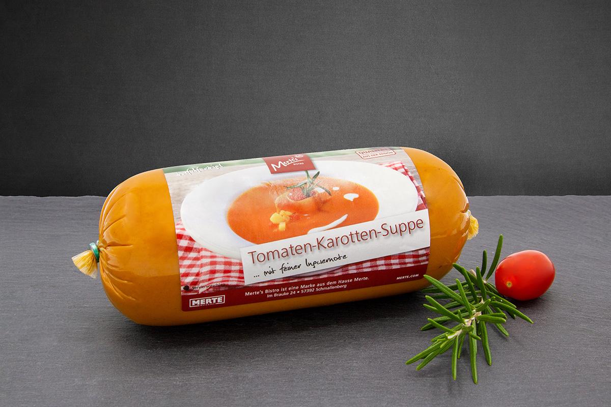 Tomaten-Karotten Suppe Ingwer